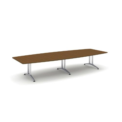 コクヨ 応接会議用テーブル ボート形 突板 配線なし WT-200シリーズ W4000×D1500×H720 WT-W212