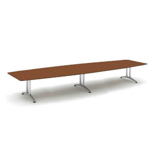 コクヨ 応接会議用テーブル ボート形 突板 配線なし WT-200シリーズ W4800×D1500×H720 WT-W213