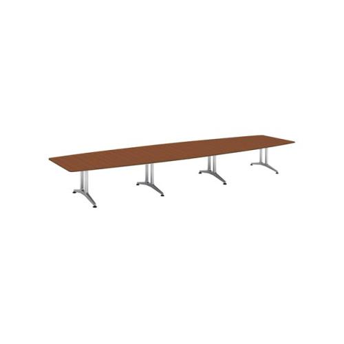 コクヨ 応接会議用テーブル ボート形 突板 配線なし WT-200シリーズ W5600×D1500×H720 WT-W214