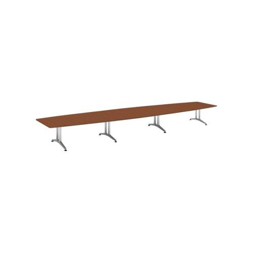 コクヨ 応接会議用テーブル ボート形 突板 配線なし WT-200シリーズ W7200×D1600×H720 WT-W216