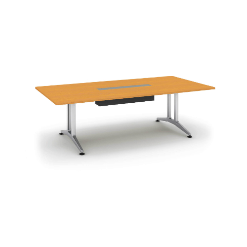 コクヨ 応接会議用テーブル 角形 突板 配線付き WT-200シリーズ W2400×D1200×H720 WT-WB200