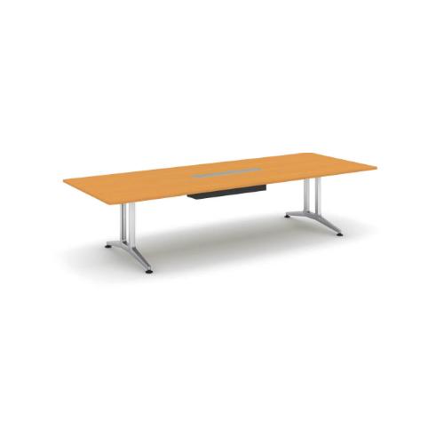 コクヨ 応接会議用テーブル 角形 突板 配線付き WT-200シリーズ W3200×D1200×H720 WT-WB201