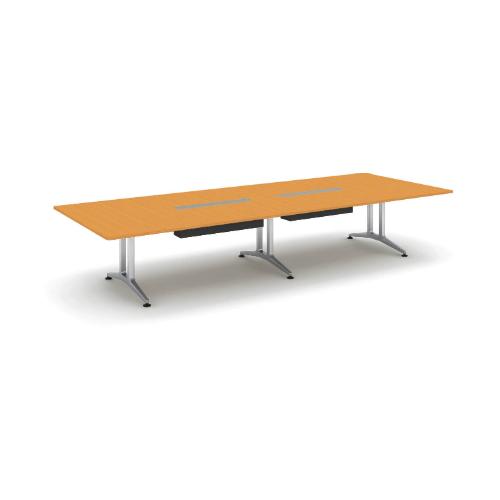 コクヨ 応接会議用テーブル 角形 突板 配線付き WT-200シリーズ W4000×D1500×H720 WT-WB202