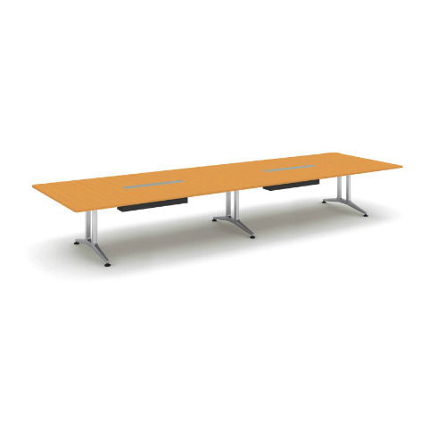 コクヨ 応接会議用テーブル 角形 突板 配線付き WT-200シリーズ W4800×D1500×H720 WT-WB203