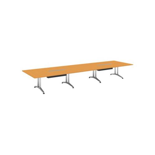コクヨ 応接会議用テーブル 角形 突板 配線付き WT-200シリーズ W5600×D1500×H720 WT-WB204