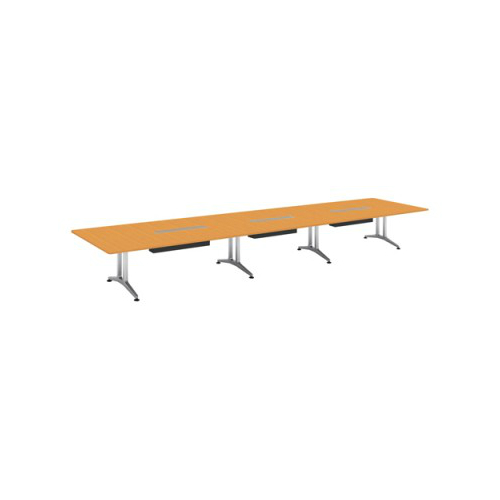 コクヨ 応接会議用テーブル 角形 突板 配線付き WT-200シリーズ W6400×D1500×H720 WT-WB205