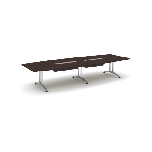 コクヨ 応接会議用テーブル ボート形 突板 配線付き WT-200シリーズ W4000×D1500×H720 WT-WB212