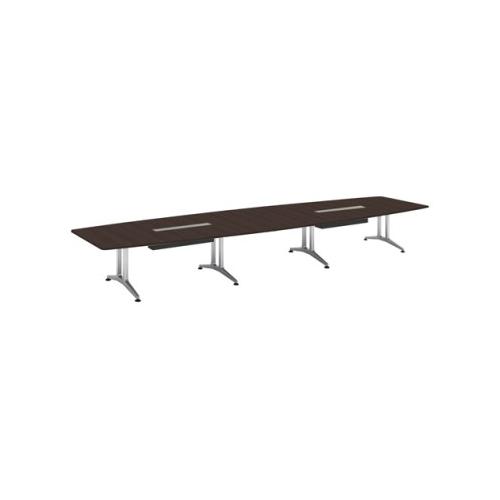 コクヨ 応接会議用テーブル ボート形 突板 配線付き WT-200シリーズ W5600×D1500×H720 WT-WB214