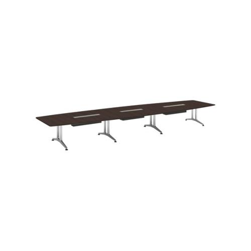 コクヨ 応接会議用テーブル ボート形 突板 配線付き WT-200シリーズ W6400×D1500×H720 WT-WB215