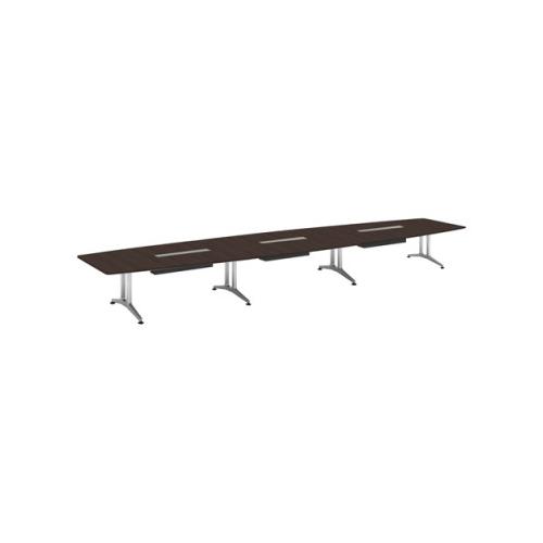 コクヨ 応接会議用テーブル ボート形 突板 配線付き WT-200シリーズ W7200×D1600×H720 WT-WB216