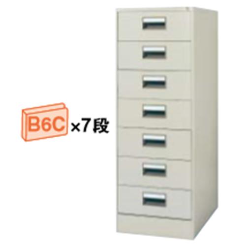 コクヨ KOKUYO カードキャビネット B6Cサイズ引き出しタイプ W480×D620×H1335 B6C・2列 7段 B6C-027F1