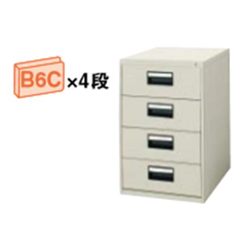 コクヨ KOKUYO カードキャビネット B6Cサイズ引き出しタイプ W480×D620×H740 B6C・2列 4段 B6C-024F1