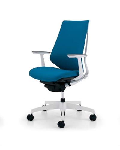 コクヨ KOKUYO オフィスチェア Duora デュオラチェア クッションタイプ 樹脂脚(ホワイト/クリーンテクトコーティング) ハイバック T型肘 CR-GW3101E1※-W