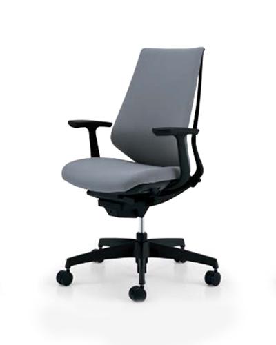 コクヨ KOKUYO オフィスチェア Duora デュオラチェア クッションタイプ 樹脂脚(ブラック) ハイバック T型肘 CR-G3101E1/CR-G3101E6