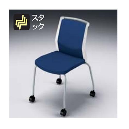 ナイキ NAIKI osedia オセディアチェア ミーティングチェアー 布張り 4本脚キャスター付・背パッドタイプ 肘無し E290HFC/E290FC