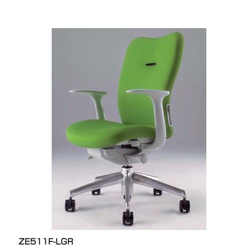 ナイキ NAIKI オフィスチェア ENEIR エネアチェア 布張り ミドルバック 肘付 ZE511F