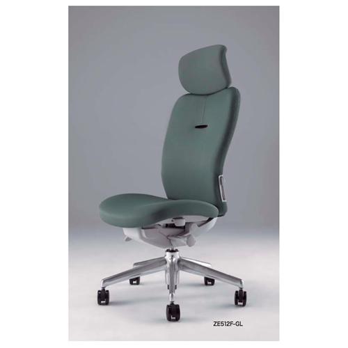 ナイキ NAIKI オフィスチェア ENEIR エネアチェア 布張り ミドルバック ヘッドレスト付 肘なし ZE512F