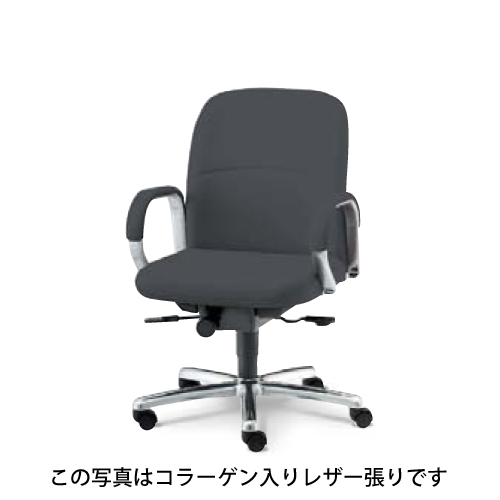 ウチダ オフィスチェア 高級チェア EX-200シリーズ オープン肘タイプ ローバック 布張り EX-200N 1-229-202*