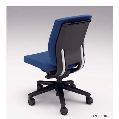 ナイキ NAIKI オフィスチェア FECT フェクトチェア ミドルバック 布張り 肘なし FEN510F