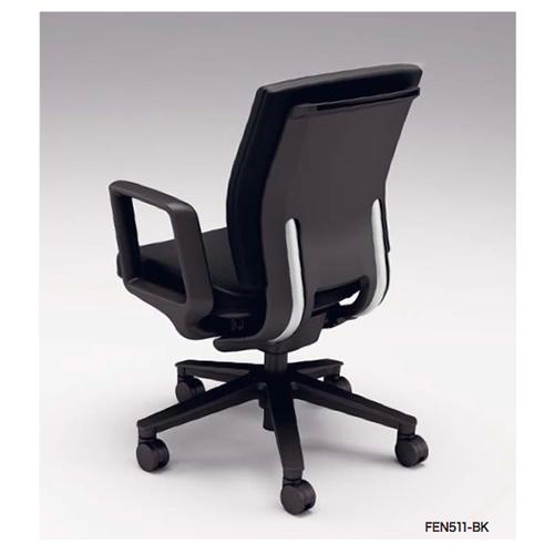 ナイキ NAIKI オフィスチェア FECT フェクトチェア ミドルバック 布張り リング肘付 FEN511F
