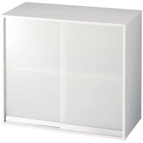 ジョインテックスJOINTEX Trinityトリニティ ガラス引違い書庫上置き W800D400H730 LGT-802G 357-995