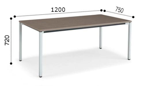 コクヨ KOKUYO ミーティングテーブル JUTO 4本脚 角脚 塗装脚 角形天板 アジャスタータイプ スクエアエッジ W1200×D750×H720 MT-JTK127