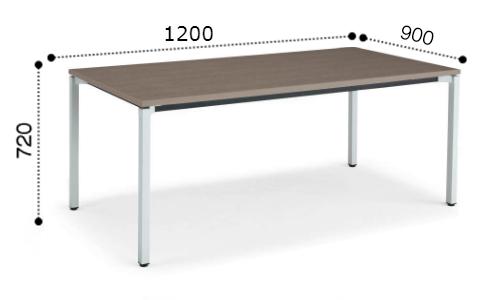 コクヨ KOKUYO ミーティングテーブル JUTO 4本脚 角脚 塗装脚 角形天板 アジャスタータイプ スクエアエッジ W1200×D900×H720 MT-JTK129