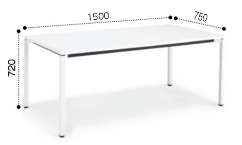 コクヨ KOKUYO ミーティングテーブル JUTO 4本脚 角脚 塗装脚 角形天板 アジャスタータイプ スクエアエッジ W1500×D750×H720 MT-JTK157