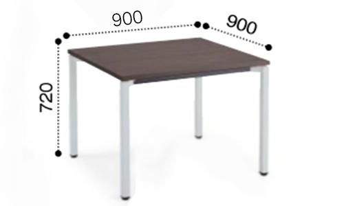 コクヨ KOKUYO ミーティングテーブル JUTO 4本脚 角脚 塗装脚 角形 正方形天板 アジャスタータイプ スクエアエッジ W900×D900×H720 MT-JTK99
