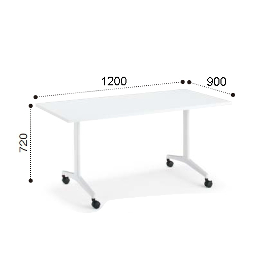 コクヨ ミーティングテーブル JUTO ジュート T字 塗装脚 角形天板 キャスタータイプ スクエアエッジ W1200×D900×H720 MT-JTT129
