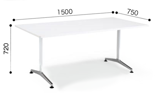 コクヨ KOKUYO ミーティングテーブル JUTO  T字 ポリッシュ脚 角形天板 アジャスタータイプ ラウンドエッジ W1500×D750×H720 MT-JTTR157P