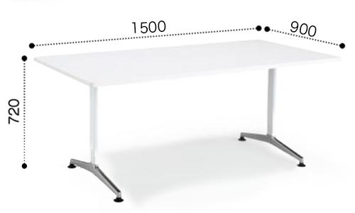 コクヨ KOKUYO ミーティングテーブル JUTO  T字 ポリッシュ脚 角形天板 アジャスタータイプ ラウンドエッジ W1500×D900×H720 MT-JTTR159P
