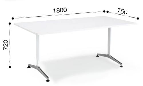 コクヨ KOKUYO ミーティングテーブル JUTO  T字 ポリッシュ脚 角形天板 アジャスタータイプ ラウンドエッジ W1800×D750×H720 MT-JTTR187P