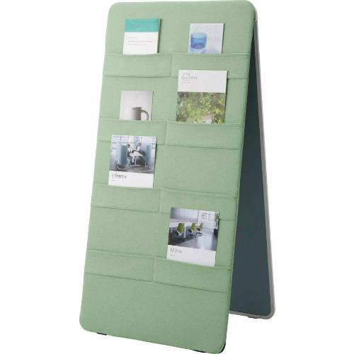 コクヨ マテリボ(MATERIBO) パンフレットスタンド 片面ホワイト板面/片面張り地 W865×D570×H1345 B01-C067S1C3