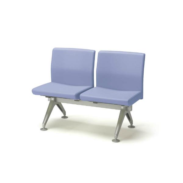 コクヨ ロビーチェアー 4700シリーズ 2連 布/エコPVレザー W1040×D548×H790 CN-4702