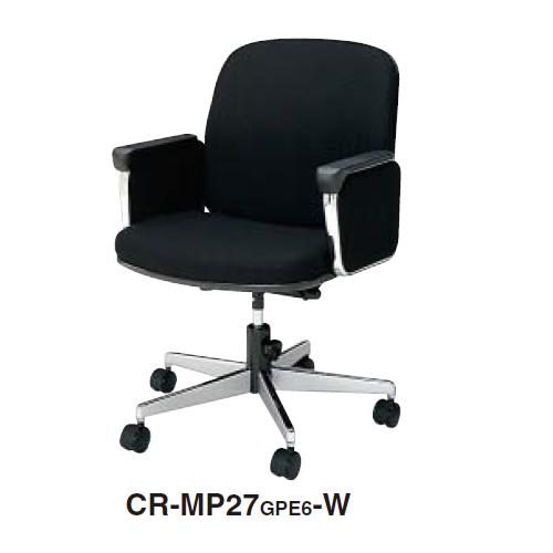 コクヨ 事務用回転イス 20シリーズチェア ミドルマネージメントタイプ パネル肘付きチェアー 布貼り CR-MP27