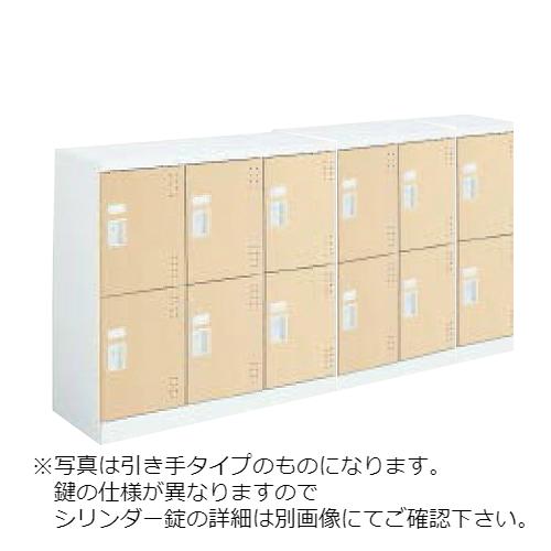 コクヨ スクールロッカー ホワイトタイプ ロータイプ 6列2段12人用 扉付き(中棚付)扉ライトナチュラル SLK-HY12LSAWDAO