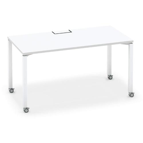 コクヨ KOKUYO オフィスデスク ワークフィット スタンダードテーブル 片面タイプ アジャスター脚/キャスター脚 W1400×D700 SD-WFA147N/SD-WFC147