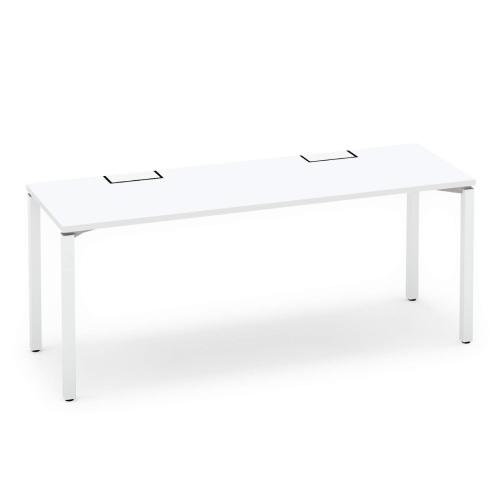 コクヨ KOKUYO オフィスデスク ワークフィット スタンダードテーブル 片面タイプ アジャスター脚 W1800×D600 SD-WFA186