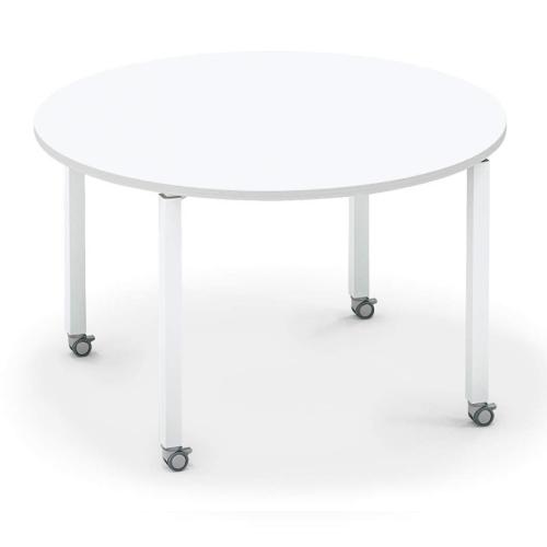 コクヨ KOKUYO オフィスデスク ワークフィット ミーティングテーブル 円形 アジャスター脚/キャスター脚 配線ボックス無 Ф1200タイプ SD-WFTA12/SD-WFTC12