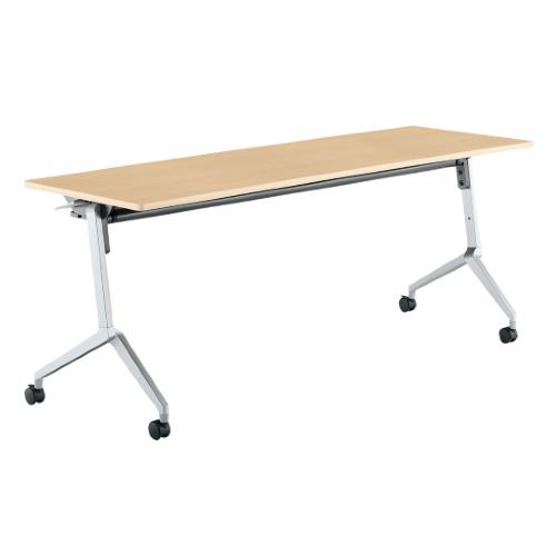 コクヨ ミーティングテーブル リーフライン フラップテーブル パネルなしタイプ 棚付き W1800×D600×H720mm KT-S1201