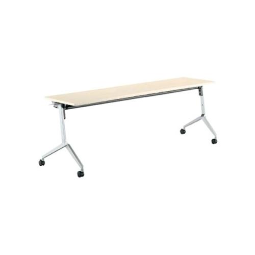 コクヨ ミーティングテーブル リーフライン フラップテーブル パネルなしタイプ 棚付き W1800×D450×H720mm KT-S1200