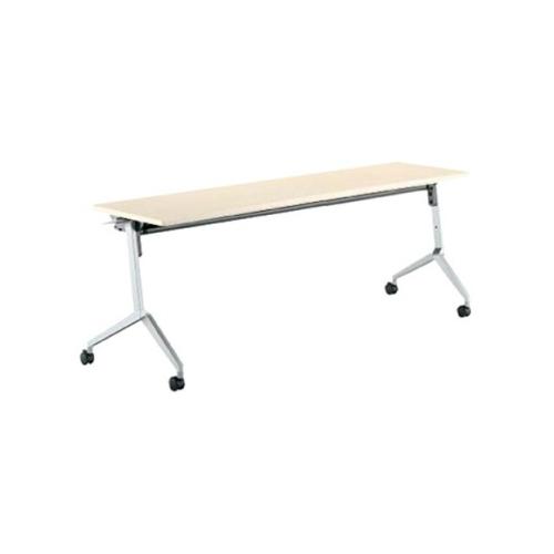 コクヨ KOKUYO ミーティングテーブル リーフライン フラップテーブル  パネルなしタイプ 棚付き W1500×D450×H720mm KT-S1202