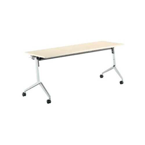コクヨ KOKUYO ミーティングテーブル リーフライン フラップテーブル  パネルなしタイプ 棚付き W1200×D600×H720mm KT-S1205
