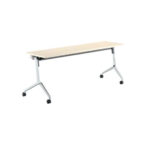 コクヨ KOKUYO ミーティングテーブル リーフライン フラップテーブル  パネルなしタイプ 棚付き W1200×D450×H720mm KT-S1204