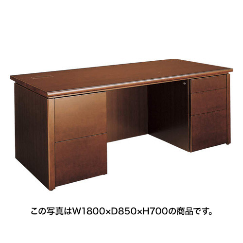 コクヨ 役員室用家具 マネージメント 220シリーズ 両袖デスク<コンセント+情報コンセント付> MG-220CD1