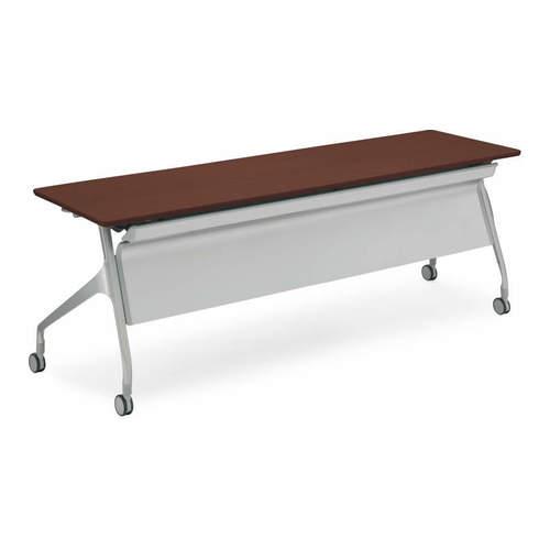 コクヨ  EPIPHY エピファイ 会議用テーブル 天板フラップ式 直線タイプ/パネル付き/配線キャップなし W2100×D600×H720mm KT-PS1009