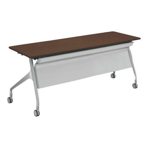 コクヨ EPIPHY エピファイ 会議用テーブル 天板フラップ式 直線タイプ/パネル付き/配線キャップなし W1800×D600×H720mm KT-PS1001
