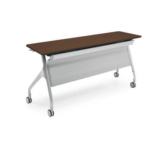 コクヨ  EPIPHY エピファイ 会議用テーブル 天板フラップ式 直線タイプ/パネル付き/配線キャップなし W1500×D450×H720mm KT-PS1002
