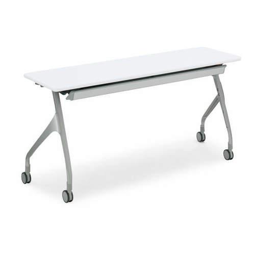 コクヨ EPIPHY エピファイ 会議用テーブル 天板フラップ式 直線タイプ/パネルなし/配線キャップ付き W1200×D450×H720mm KT-SW1004